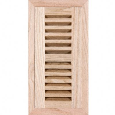 4&#034; x 10&#034; Red Oak Grill Flush w/Frame